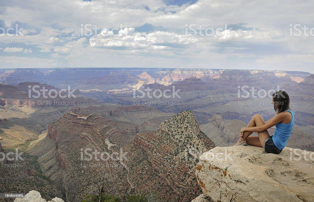 Grand Canyon, Enjoying the View (XXXL) royalty-free stock photo
