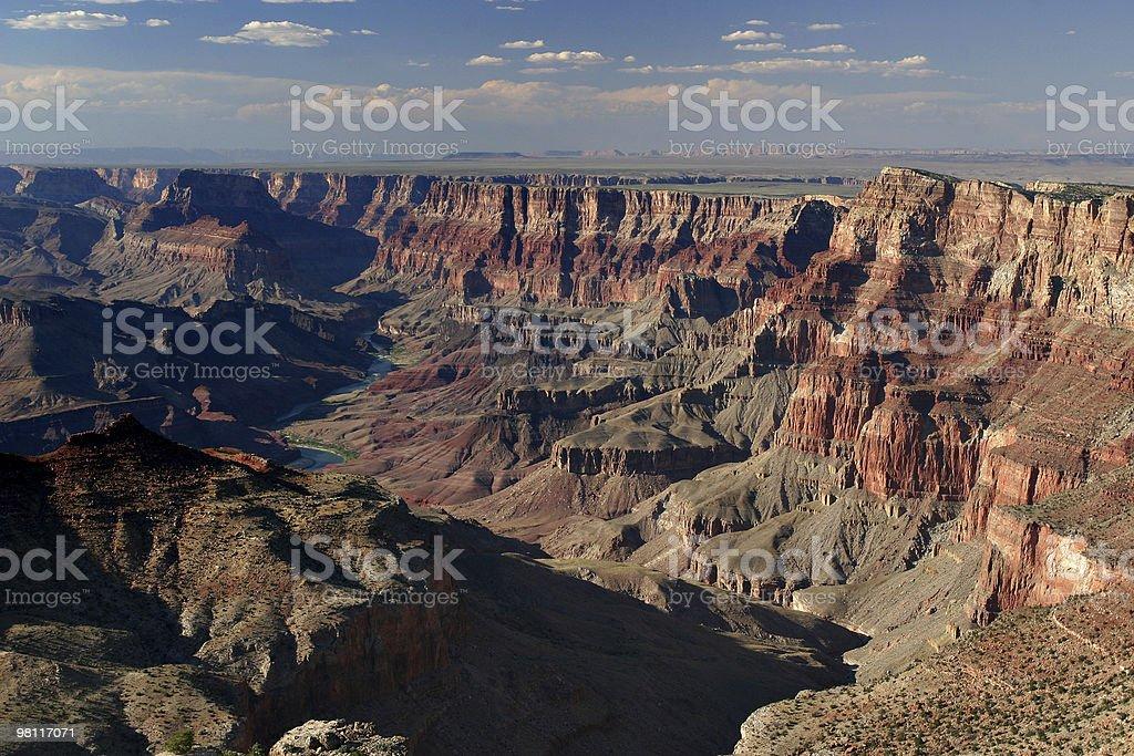 grand canyon dalla vista deserto foto stock royalty-free
