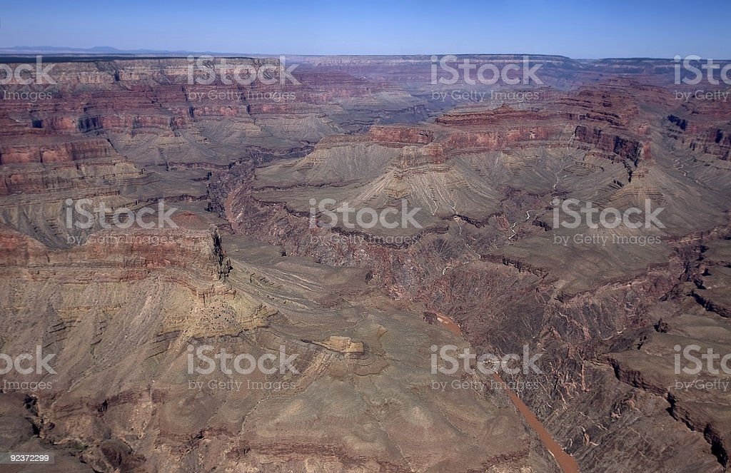 Grand Canyon from helicopter royalty-free stock photo