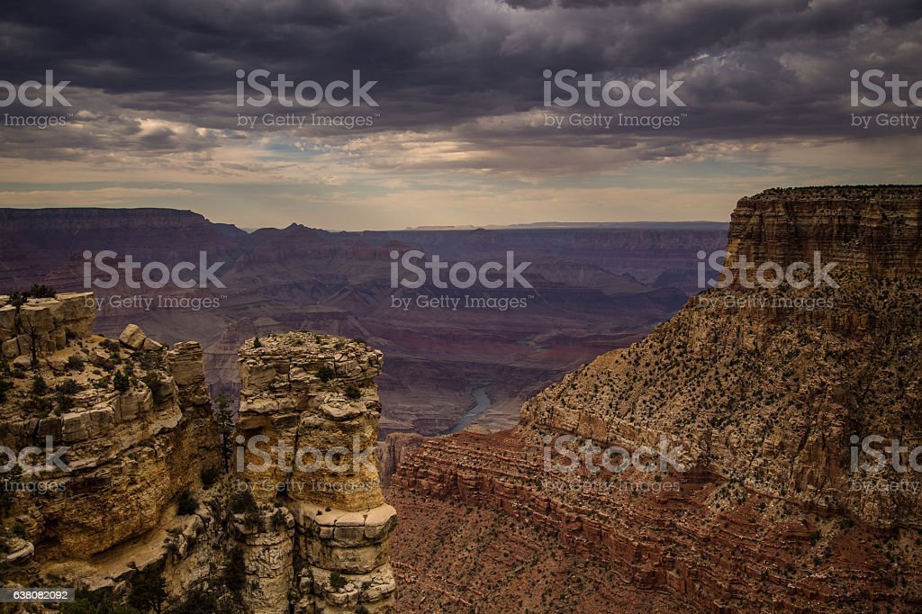 Grand Canyon From Moran Point stock photo