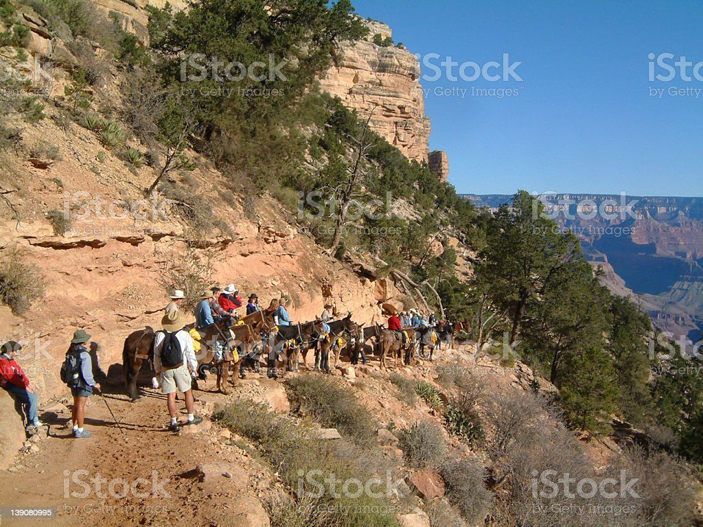 Grand Canyon Hike 3 royalty-free stock photo
