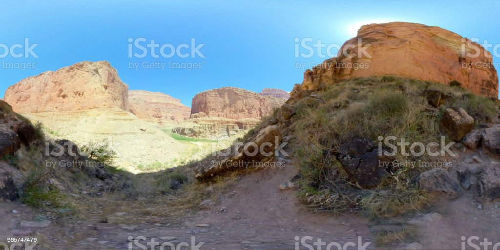 Grand Canyon in 360 - Royalty-free 360 graden-weergave Stockfoto