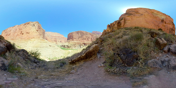 Grand Canyon In 360 Stockfoto en meer beelden van 360 graden-weergave