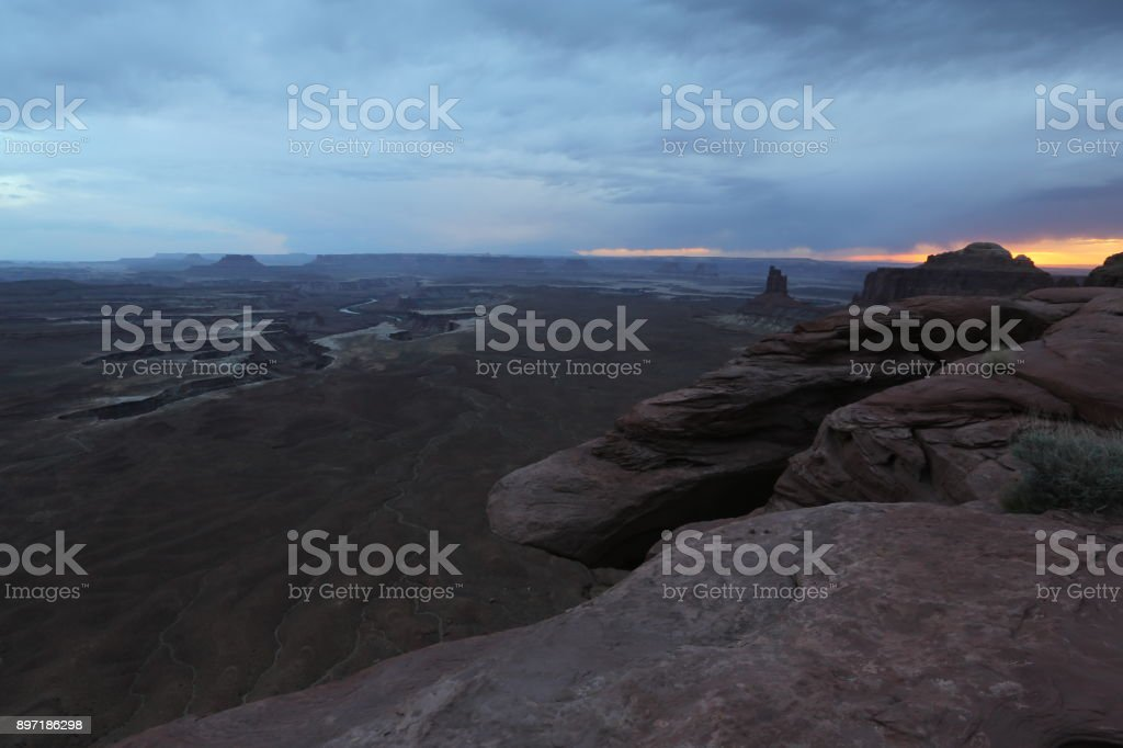 Grand canyon in the evening stock photo