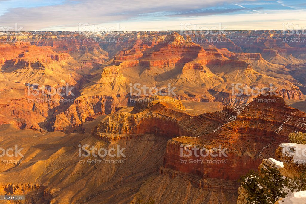 Grand canyon in the winter stock photo