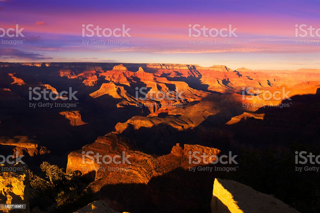 Grand Canyon landscape at sunset royalty-free stock photo