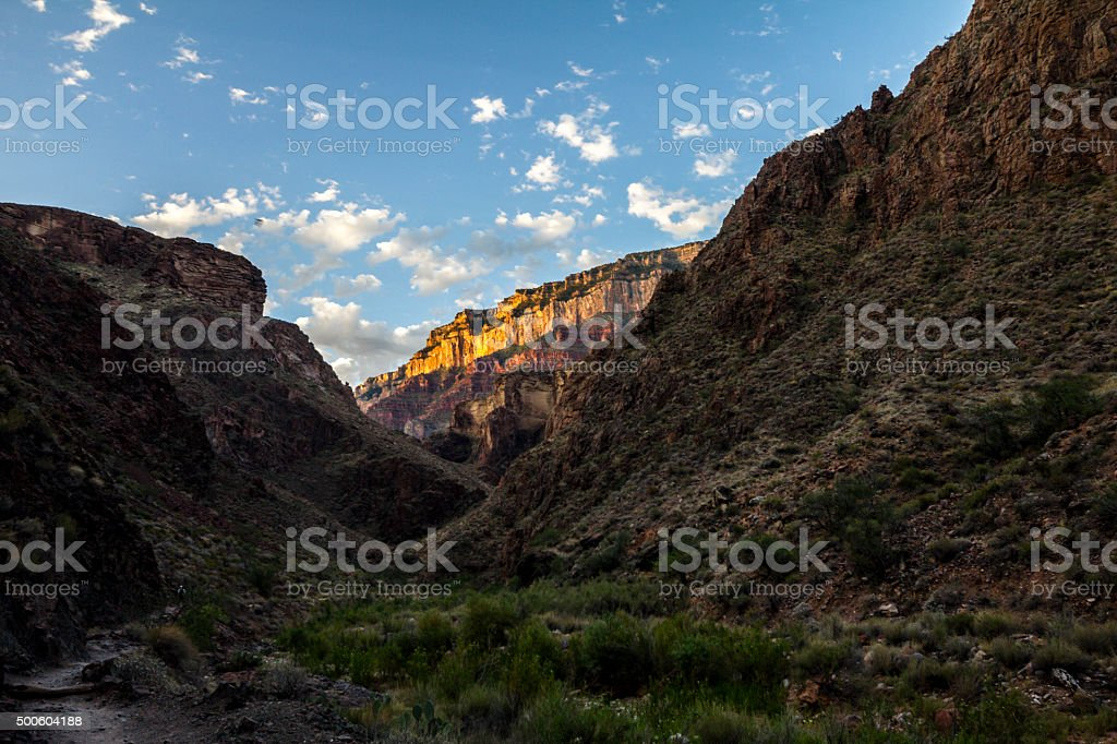Grand Canyon Landscape Overview on Trail stock photo