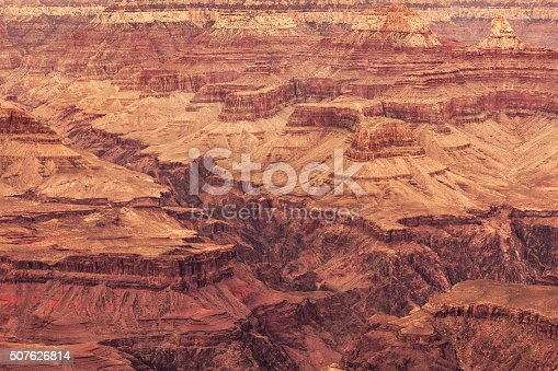 View of ravines and cliffs of Grand Canyon, Arizona.