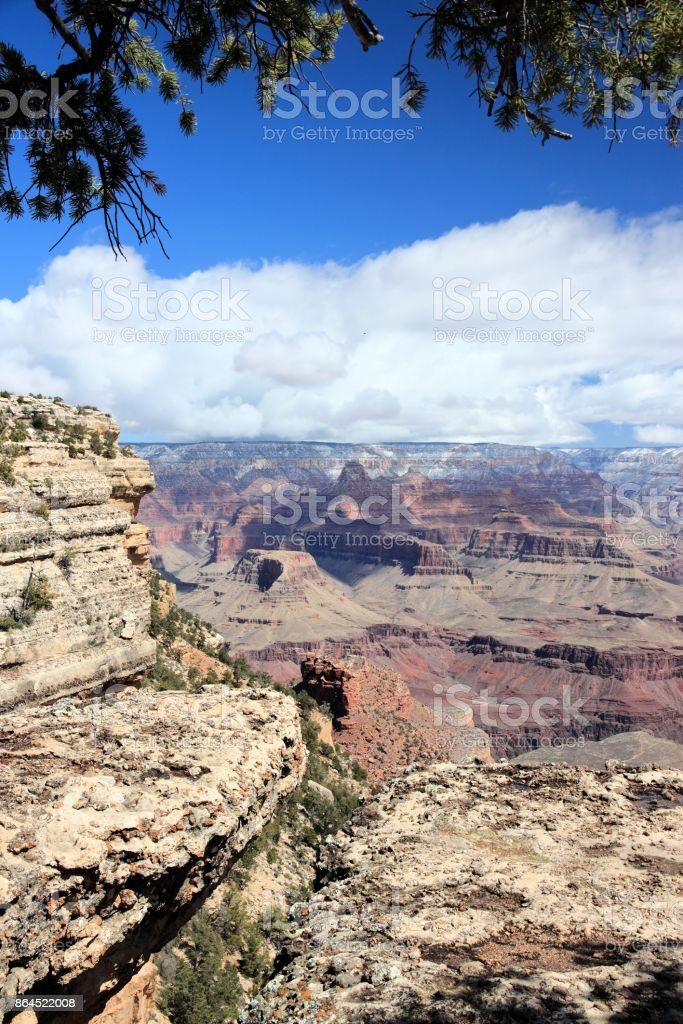 Grand Canyon Mather Point stock photo