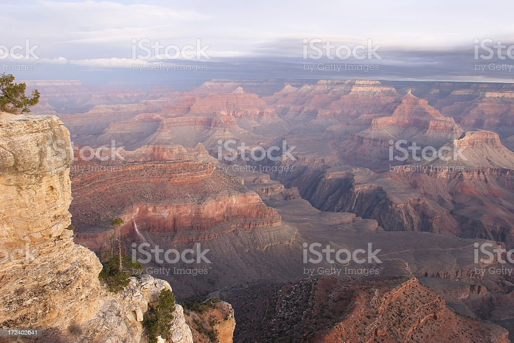 Grand Canyon Minutes before SunRise royalty-free stock photo