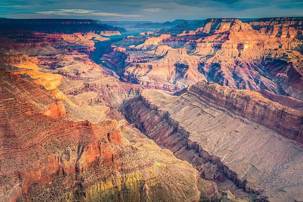 Grand Canyon National Park at Sunrise, South Rim, USA Landmark stock photo