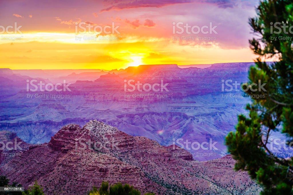Grand Canyon National Park Desert View Watchtower Lizenzfreies stock-foto