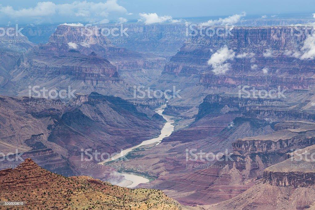 Grand Canyon National Park during a rainy day, Arizona, USA stock photo