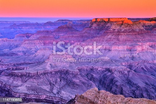 View from the south rim of the Grand Canyon in Arizona