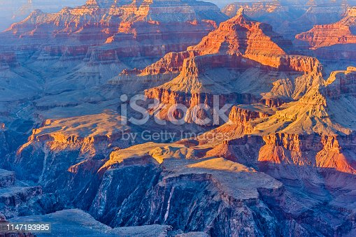 View from Yavapai Point on the south rim of the Grand Canyon in Arizona