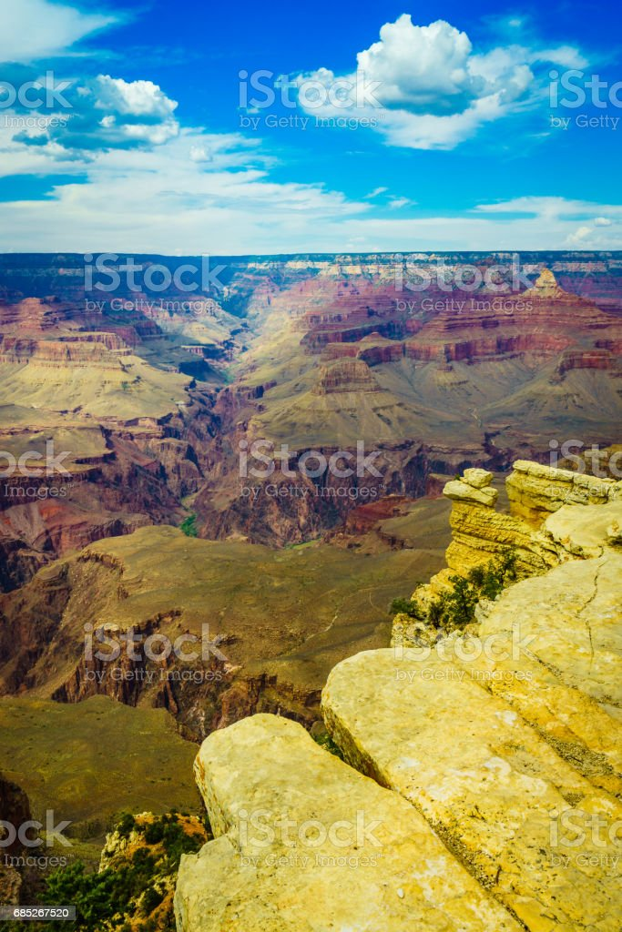 Grand Canyon National Park Mother Point and Amphitheater foto de stock libre de derechos