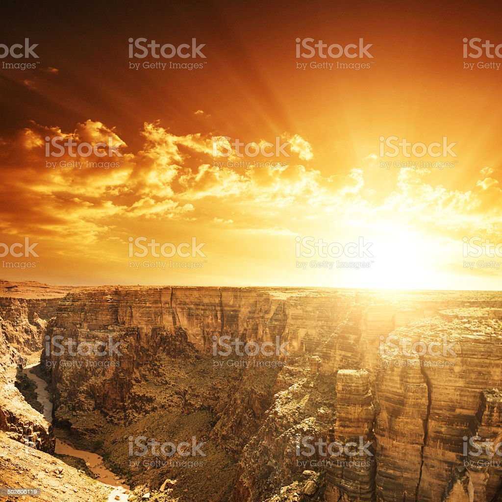 Grand Canyon national park on arizona stock photo