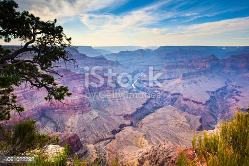 Colorful Grand Canyon National park before sunset