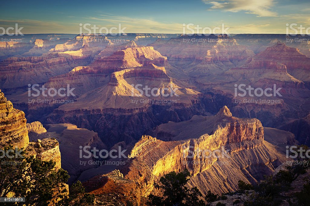 Grand Canyon National Park South Rim Scenic American Southwest Landscape stock photo