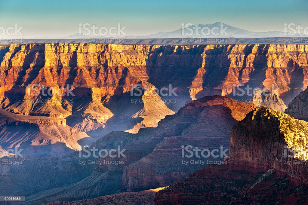 Grand Canyon National Park South Rim Scenic Landscape stock photo