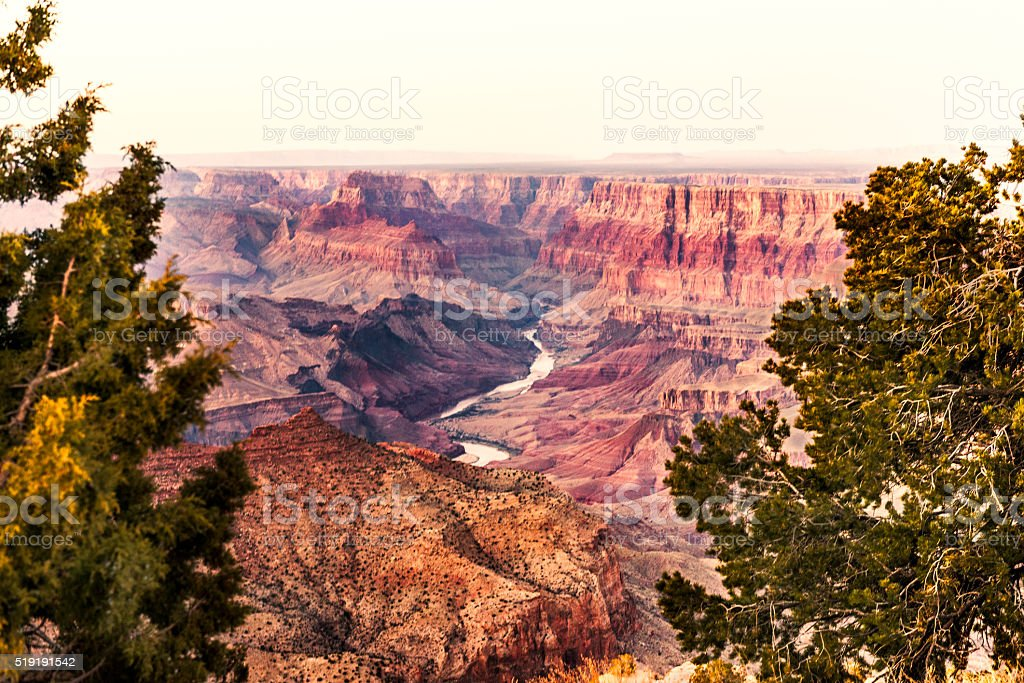 Grand Canyon National Park Sunset in Arizona USA Travel Destination stock photo