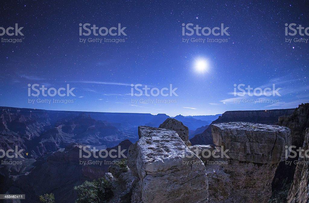 Grand Canyon nightscape royalty-free stock photo