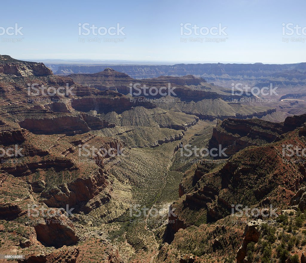 Grand Canyon North Rim : Walhalla Overlook royalty-free stock photo