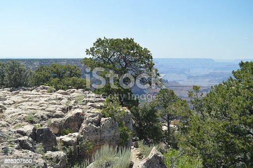 Grand Canyon Of The Colorado River. South Kaibab Trailhead. Geological formations. June 22, 2017. Grand Canyon, Arizona, USA. EEUU.
