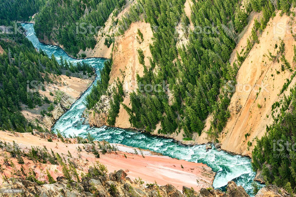 Grand Canyon of Yellowstone River stock photo