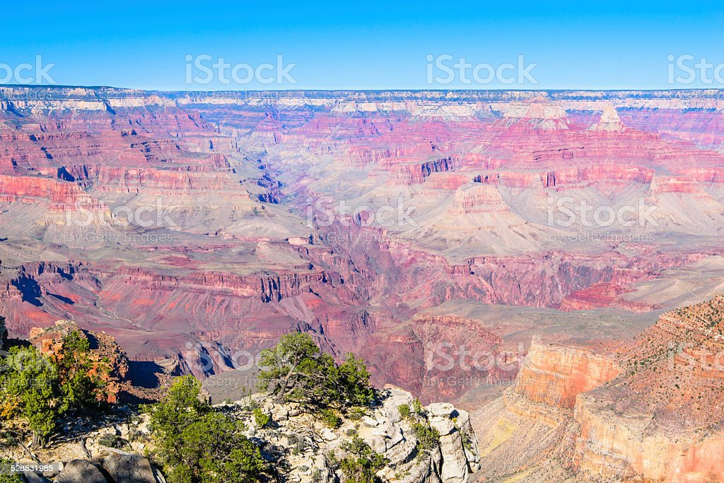 Grand Canyon - one of the 7 Natural Wonders of the World stock photo