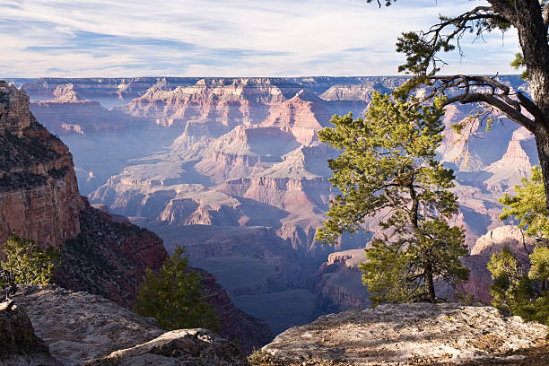 Grand Canyon Overlook From The South Rim stock photo