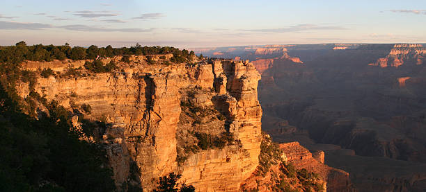 Grand Canyon Pan at Sunrise stock photo