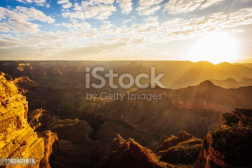 Grand Canyon panorama at sunset