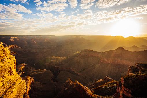 Grand Canyon panorama at sunset