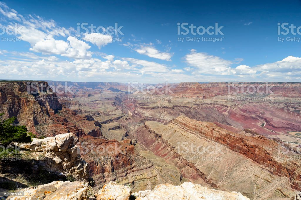 Grand Canyon Panorama from Lipan Point stock photo