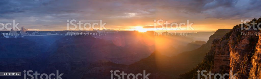 Grand canyon Panorama in the morning stock photo
