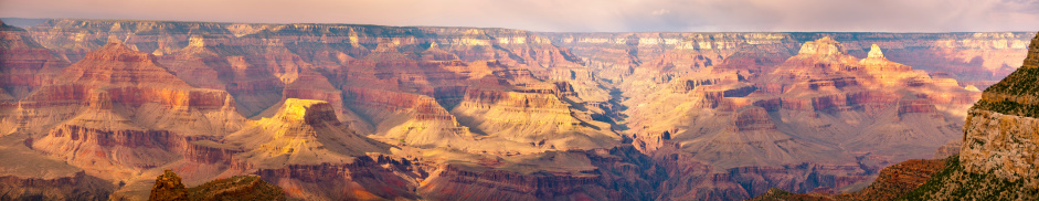 Grand Canyon Panorama Stock Photo - Download Image Now