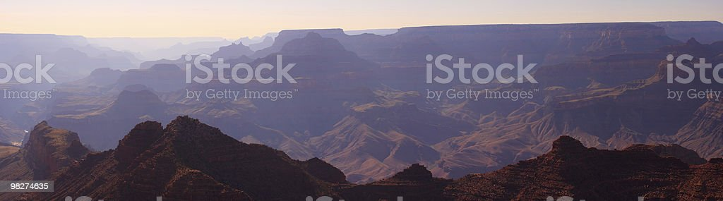 Panorama del Grand Canyon foto stock royalty-free