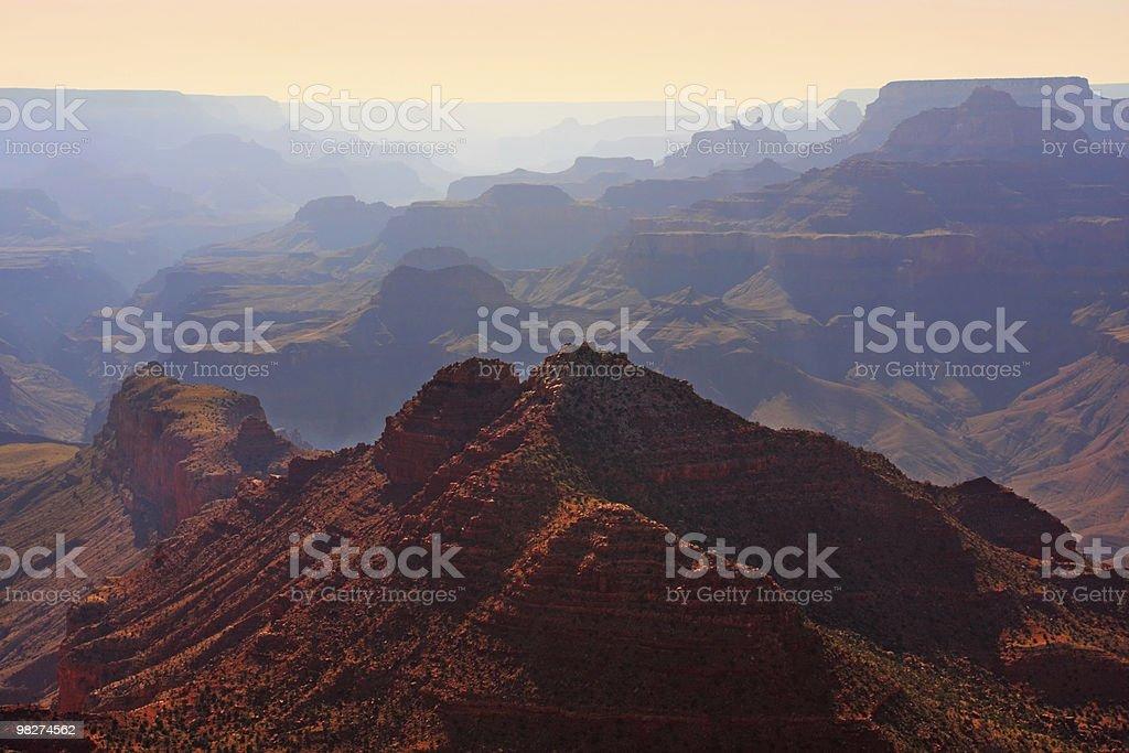 Grand Canyon Pastel Sunset royalty-free stock photo