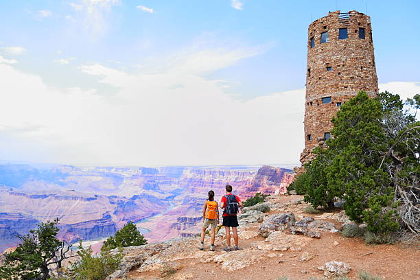 Grand Canyon people stock photo