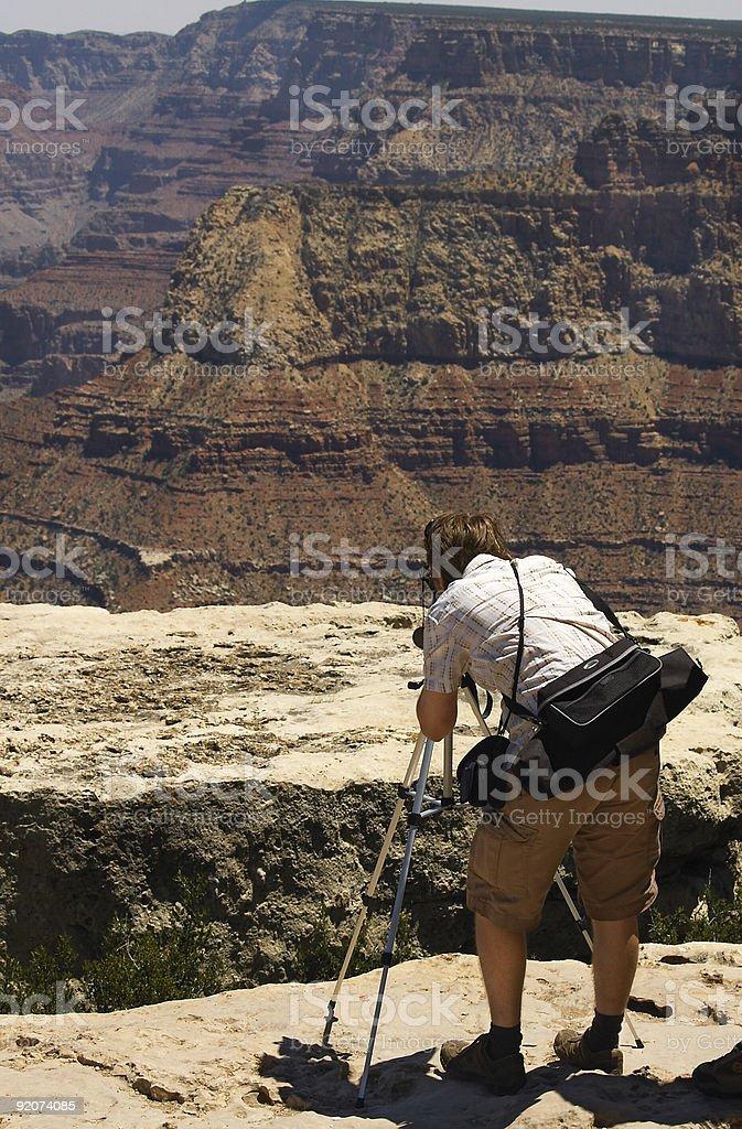 Grand Canyon Photographer stock photo