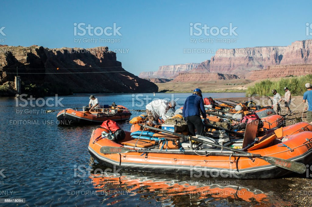 Grand Canyon Rafting at Lee's Ferry stock photo