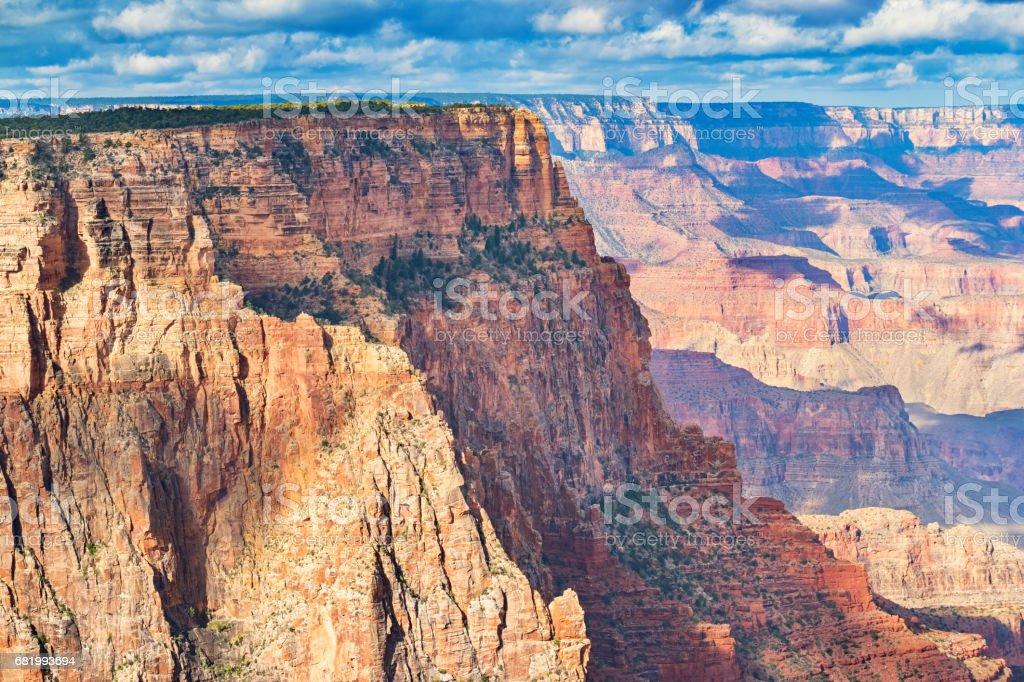 Grand Canyon Rock Face from Lipan Point Arizona USA stock photo