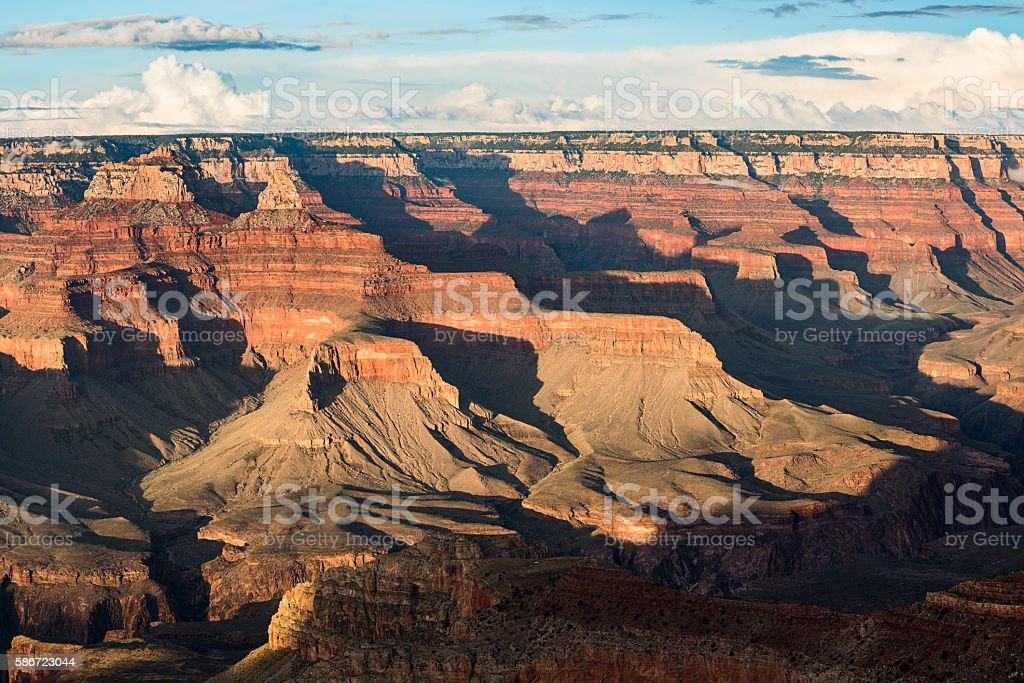 Grand Canyon scene during sunset stock photo