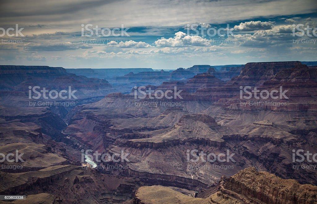 Grand Canyon Shadows stock photo