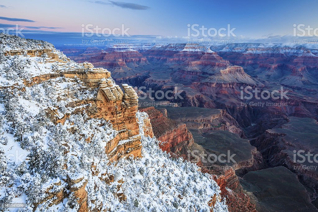 Grand Canyon Snowscape royalty-free stock photo
