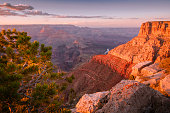 Grand Canyon south rim above Colorado River at sunset – Arizona, USA