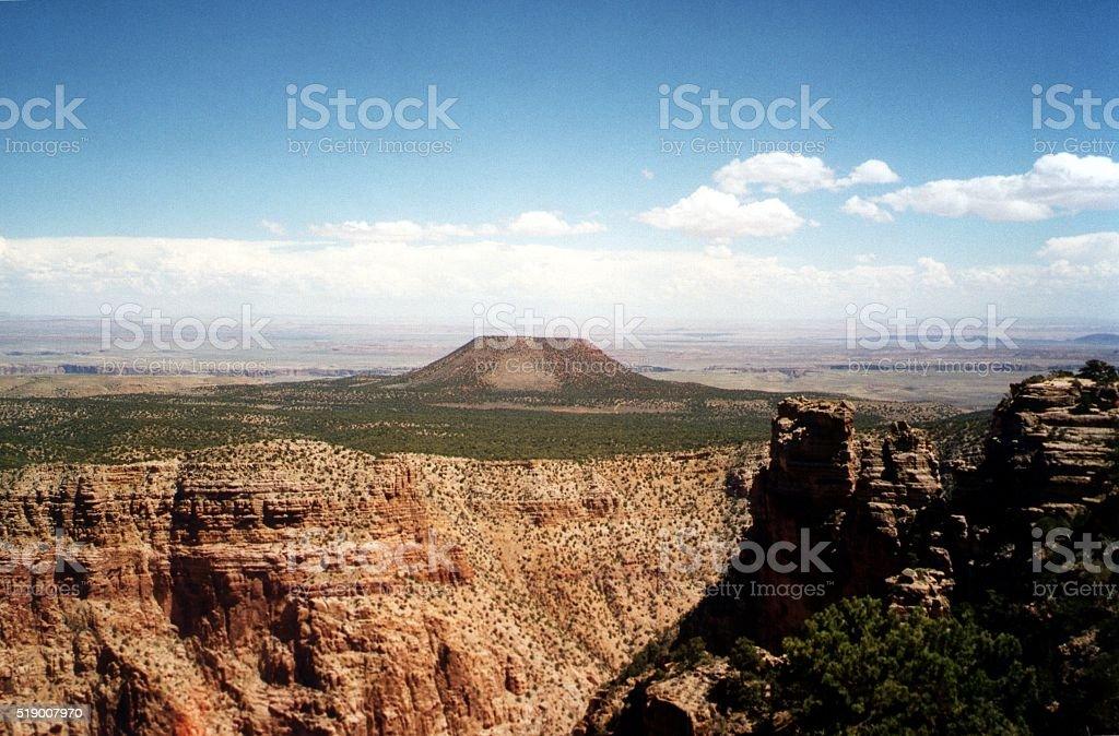 Grand Canyon South Rim and painted desert, Arizona stock photo