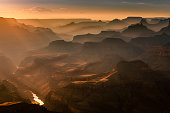 Grand Canyon south rim, Colorado River at sunset – Arizona, USA