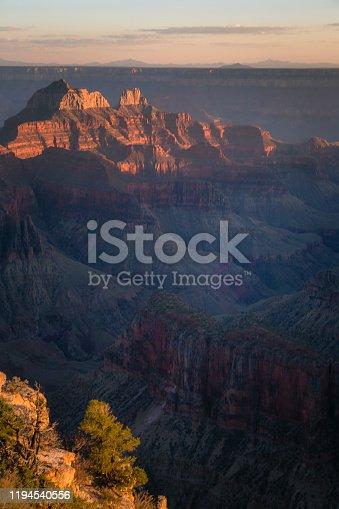 Grand Canyon south rim, dramatic landscape at dawn / sunrise  – Arizona, USA